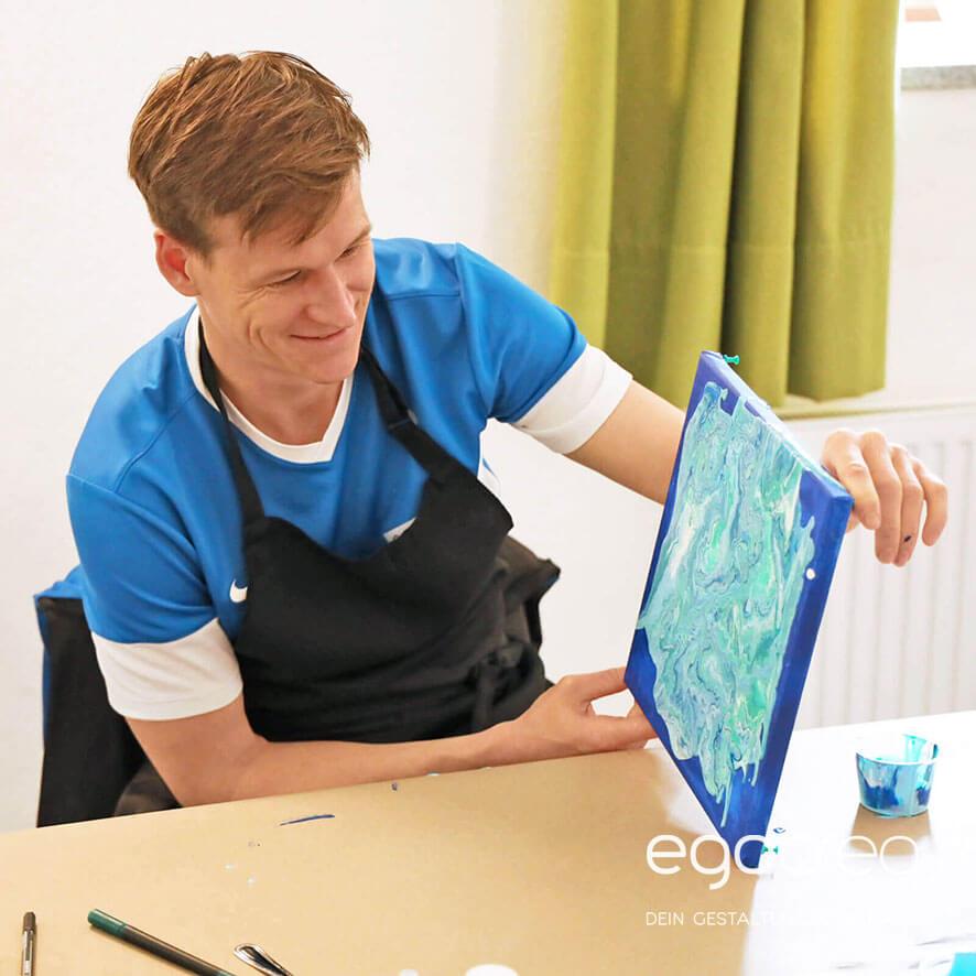 Acrylic Pouring bei egocreo